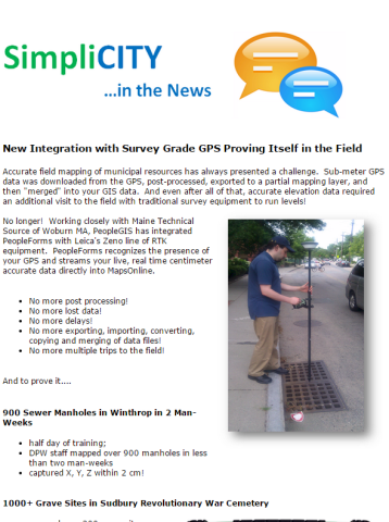 New Integration with Survey Grade GPS