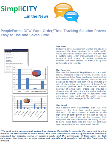 PeopleForms DPWork Order